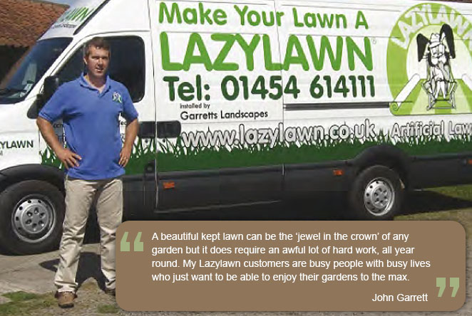 Sole provider of Lazy Lawn for Bristol